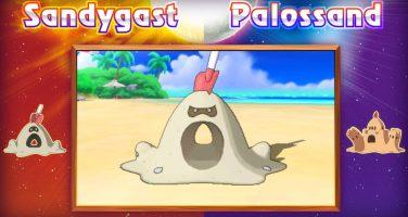 Levande sandslott finns i Pokémon Sun och Moon