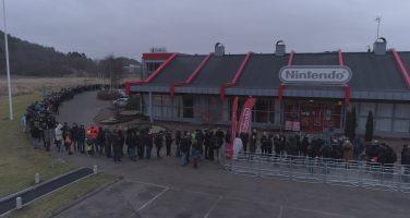 Långa köer till Nintendo Switch event i Göteborg