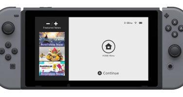 Det här är gränssnittet i Nintendo Switch