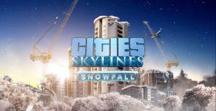 Se det snöar, se det snöar i Cities: Skylines, hurra