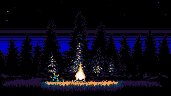shovel knight bonfire