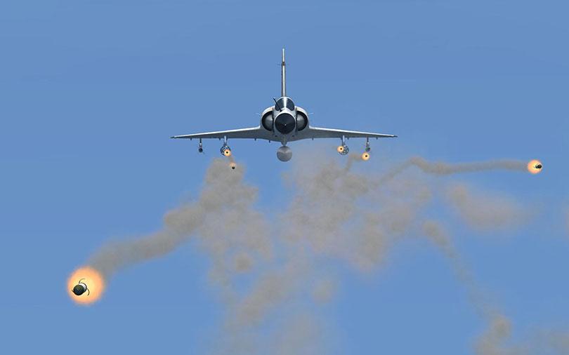 Detta var det sista fiendepiloten såg innan hans flygmaskin förvandlades till en brinnande plåthög.