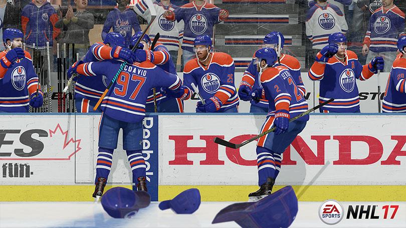 Tre mål av samma spelare betyder kepsar på isen.