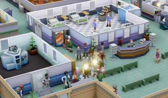 När vårdköerna blir för mycket i Two Point Hospital blir det tvärstopp i korridorerna.