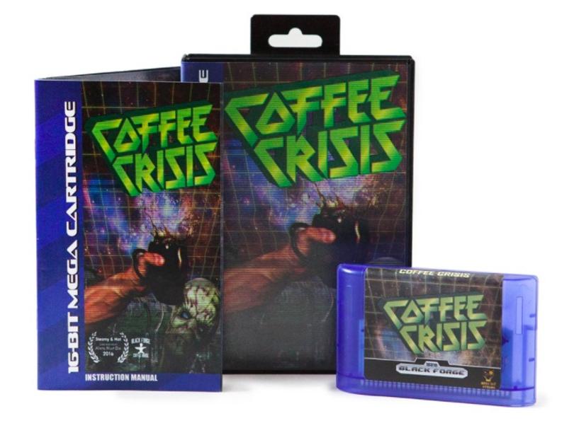 Coffee Crisis till Mega drive/Genesis, komplett med tidsenlig kartong och manual.