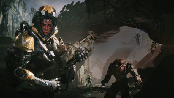 anthem, smutsig soldat i robotdräkt.