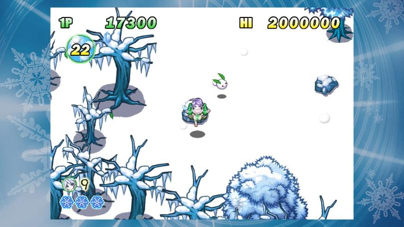 Sayuki hoppar bock över en sten på första banan.