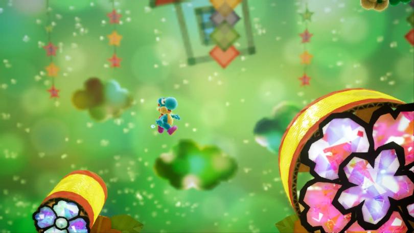 """En duktig spelare kan nästan flyga med Yoshi's """"flutterhopp""""."""