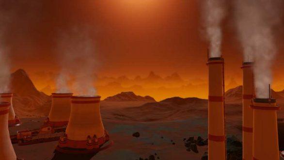 Kärnkraftsreaktorer på Mars yta. Kanske blir det en självlysande green planet.