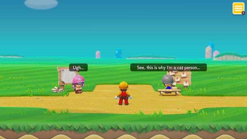 Super Mario Maker 2 börjar med att Toad erkänner sin kattiga personlighet.