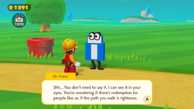Super Mario Maker 2:s dialog bjuder på roligheter.
