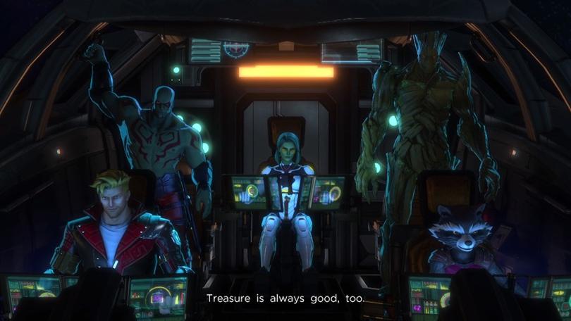 Marvel Ultimate Alliance 3 börjar i Galaxens Väktares rymdskepp.