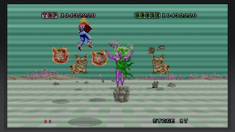 Space Harrier AGES med krattfiler