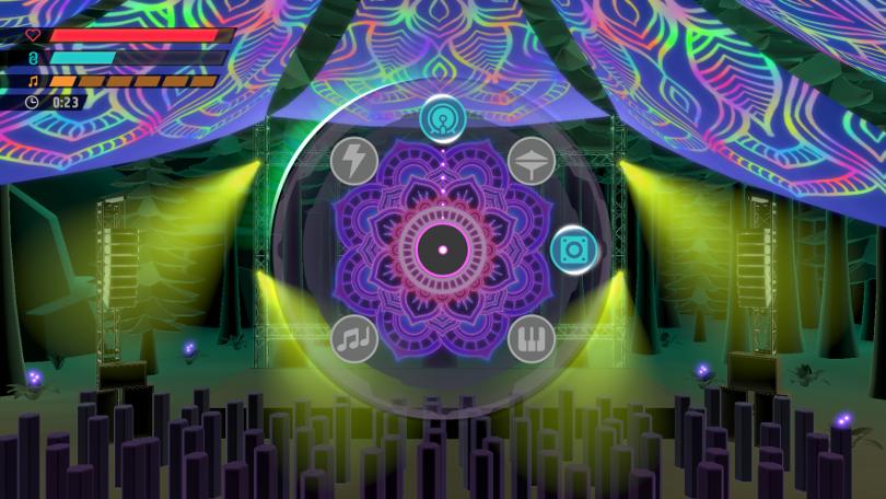 En färggrann bana från Hexagroove: Tactical DJ.