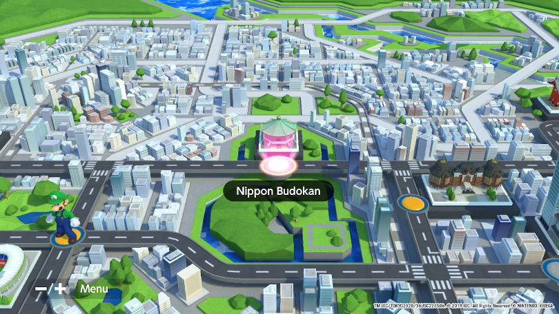 Mario & Sonic at The Olympic Games Tokyo 2020 har två trevliga världskartor att ta sig genom. Den här bilden föreställer den moderna.