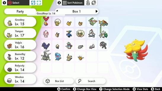 Pokémon Sword och Shield boxen låter dig byta pokémon nästan överallt.