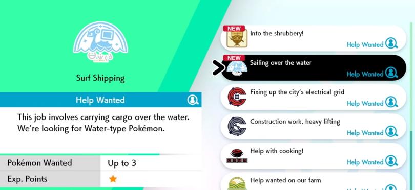 I Pokémon Sword och Shield kan du skicka dina pokémon på arbeten.