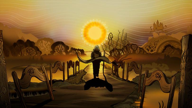 Operencia: The Stolen Sun: vacker handritad mellansekvens.