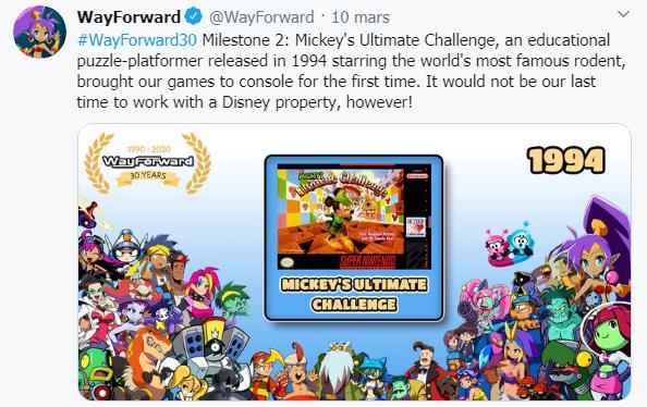 WayForward: en Tweet med studions första konsolspel.