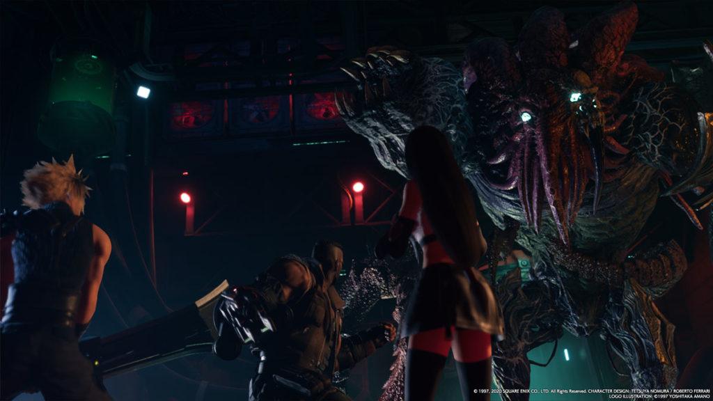 Final Fantasy VII Remake och en fet boss.