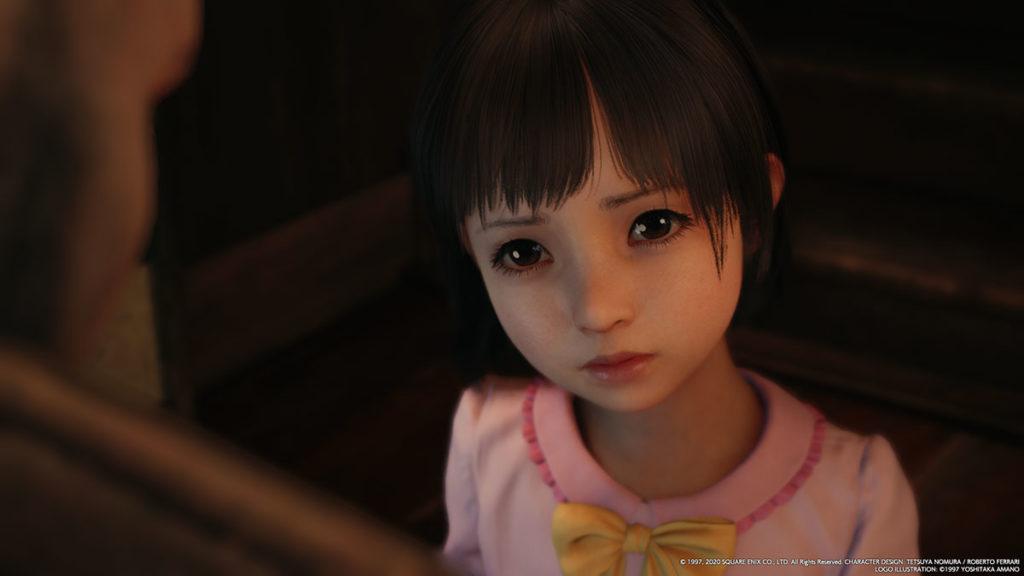 Final Fantasy VII Remake och en liten flicka som fått 100% mer personlighet.