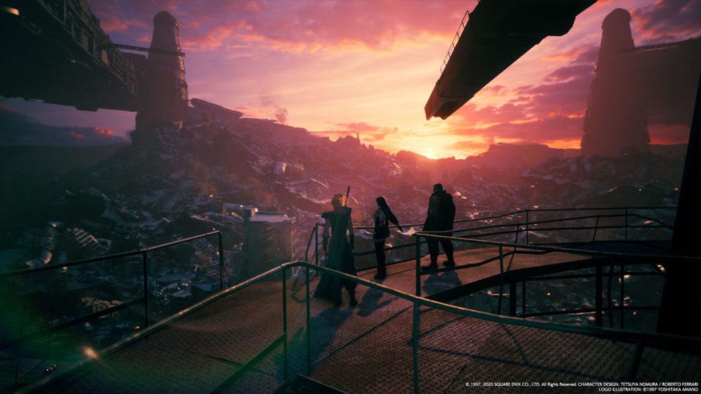Final Fantasy VII Remake utsikt över ett raserat sektor 7.