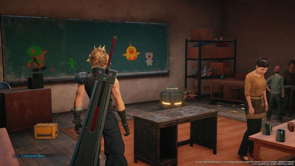 Final Fantasy VII Remake skolan i sektor 5.