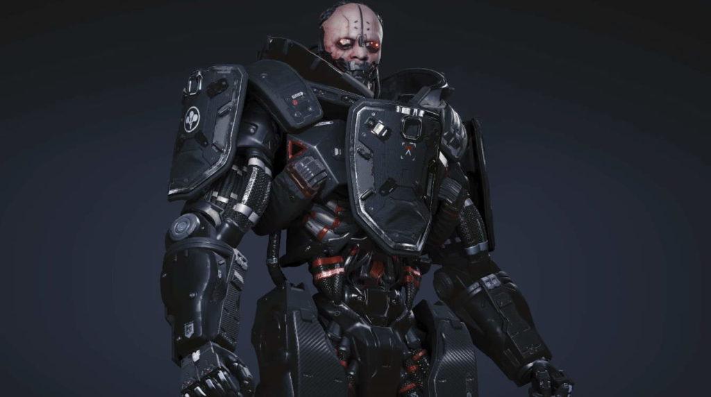 Concept image of Adam Smasher, Cyberpunk 2077.