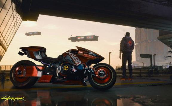 Yaiba motorcykel i Cyberpunk 2077.