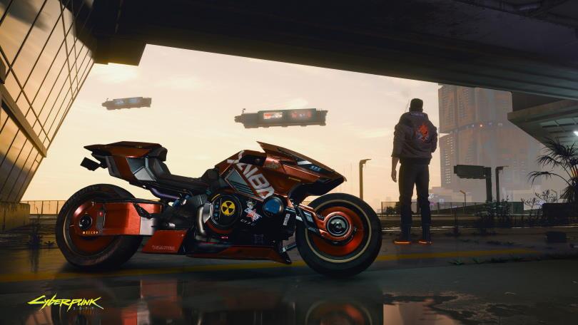 Yaiba motorcycle in Cyberpunk 2077.
