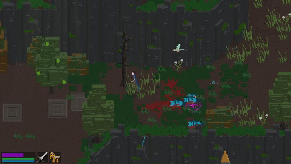 En skog med döda monster i Elden: Path of the Forgotten.