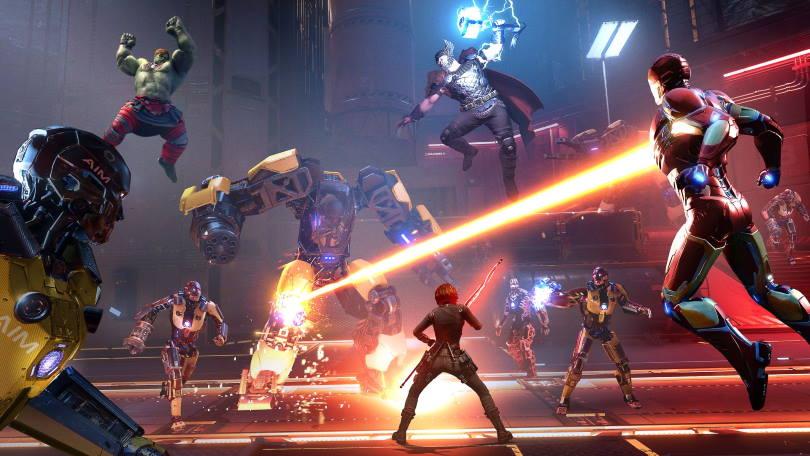 Action i Marvel's Avengers.