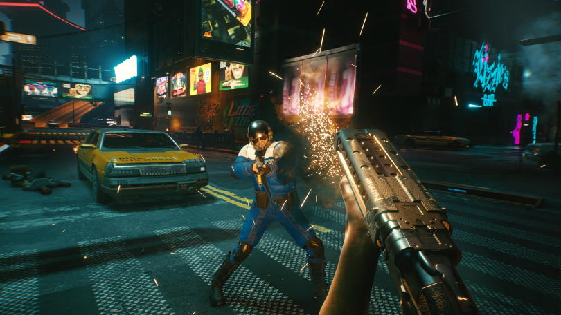 Shotguns have easy-to-mutilate enemies in Cyberpunk 2077, something you can take advantage of with Skills and Perks.