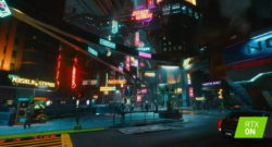 Cyberpunk 2077 med ray tracing.