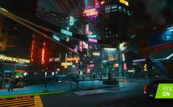 Cyberpunk 2077 med ray tracing.