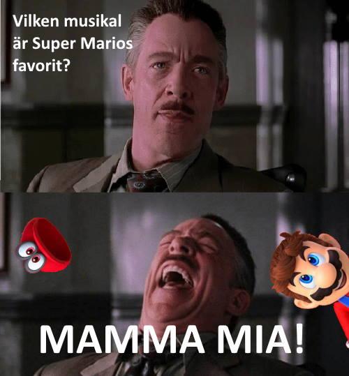 Pappaskämt för Super Mario.