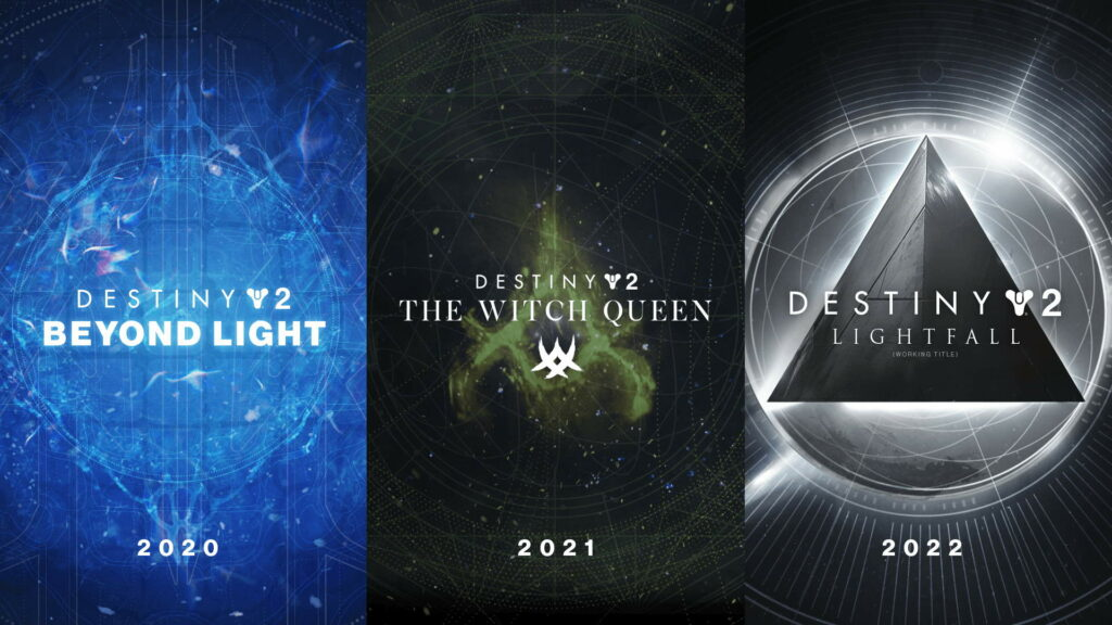 Destiny 2 and a trilogy of expansions until 2022.