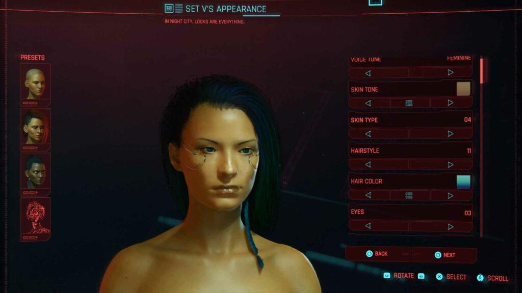 Cyberpunk 2077 character generator.