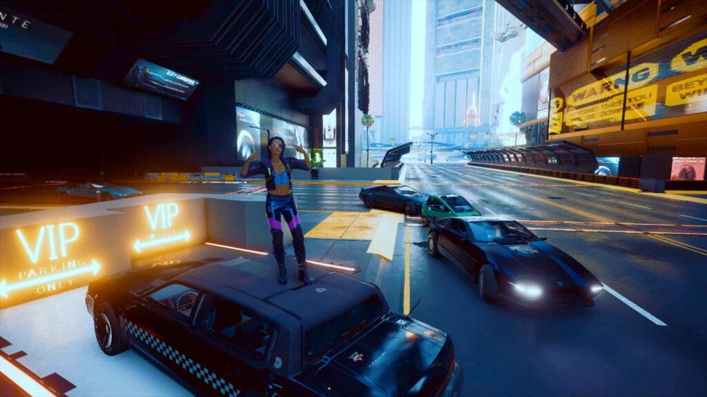 Cyberpunk 2077 trafik.