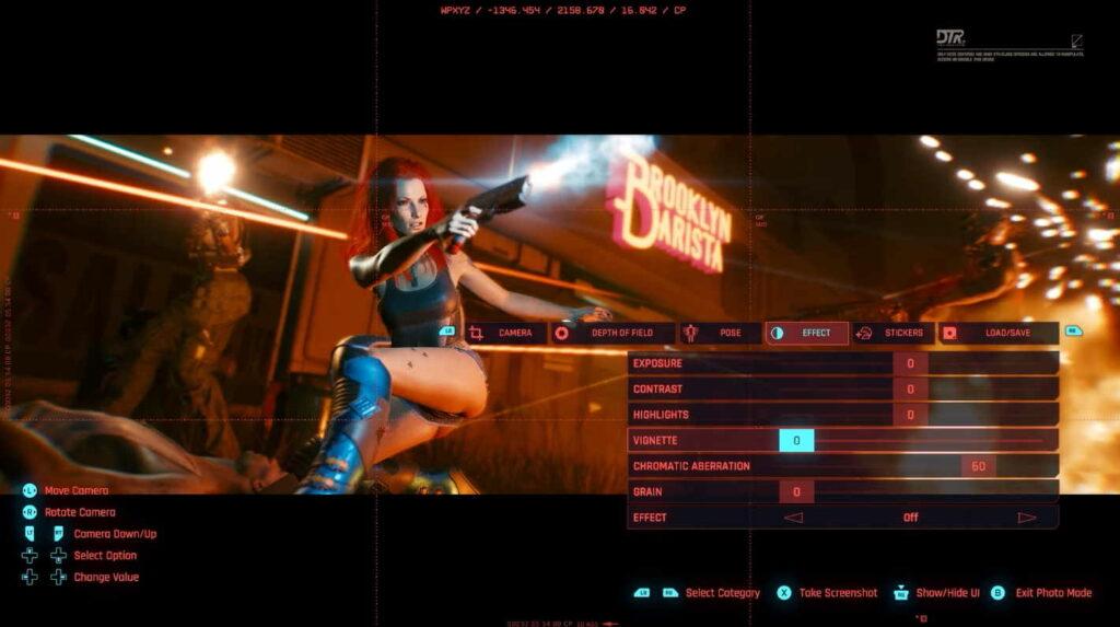 Photo Mode in Cyberpunk 2077.