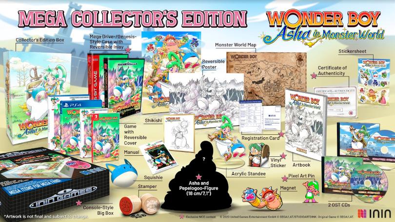 Wonder Boy: Asha in Monster World: Mega Collector's Edition.