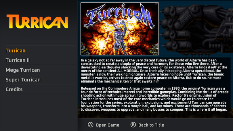 Turrican flashback recension: mycket text, bra text.
