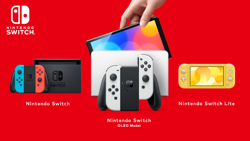 Nintendo Switch OLED with its siblings.