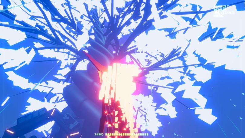 Recompile: Ett vackert, blått träd i cyberrymden.